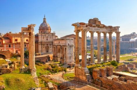 Roma dönemine ait Roma İmparatorluğu sarayları - Palatino Tepesi
