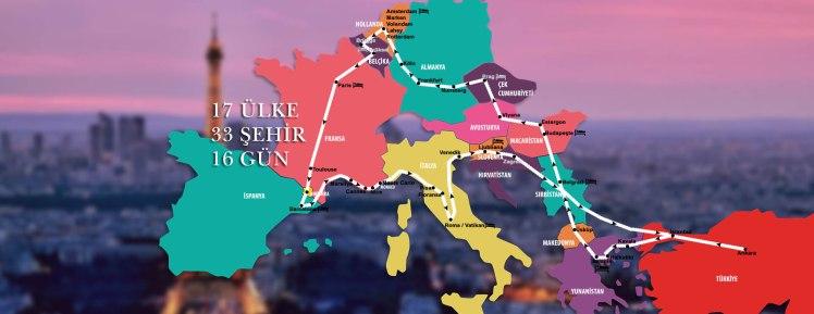Avrupa Turu Rotası -