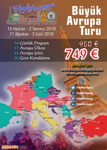 Baştan başa 2018 Otobüsle Avrupa Turu